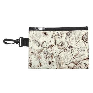 Elegant Victorian Antique Floral Pattern Accessory Bag