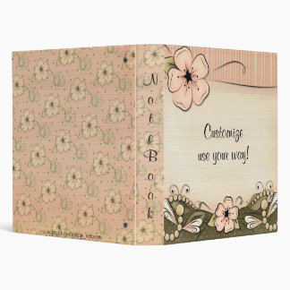 Elegant Victorian Blossoms & Pearls Avery Binder
