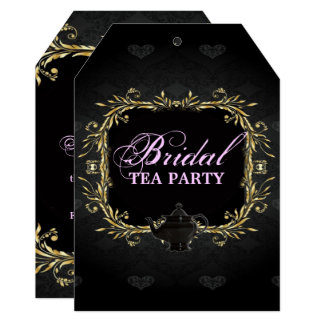 Elegant Victorian Bridal Shower Tea Party Invitation