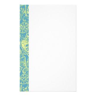 Elegant Victorian Damask Pattern Design Stationery Paper