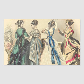 Elegant Victorian Fashions Stickers