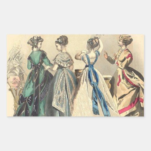 Elegant Victorian Fashions Stickers