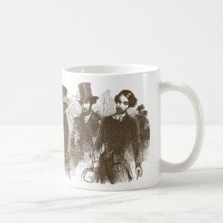 Elegant Victorian Gentlemen Coffee Mug
