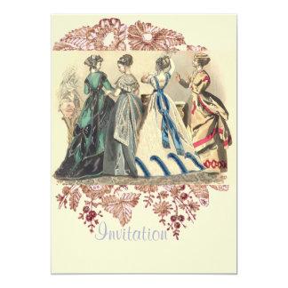 Elegant Victorian Ladies Fashions Card