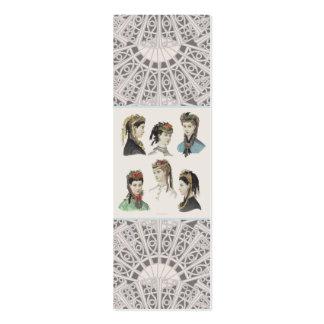 Elegant Victorian Ladies Profile Card / Bookmark Business Card Templates