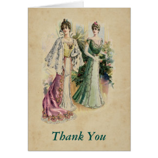 Elegant Victorian Ladies Thank You Note Card