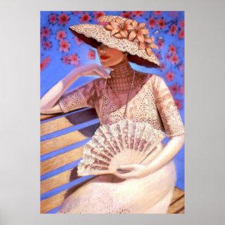 Elegant Victorian Lady Decor Art Poster Summertime