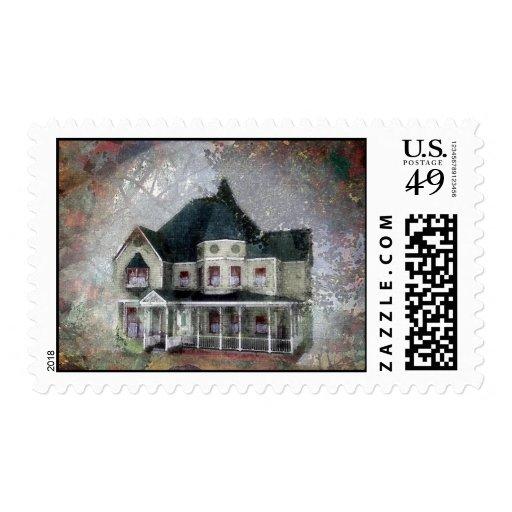 Elegant Victorian Postage Stamp
