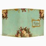 Elegant Victorian Rose Notebook Binder