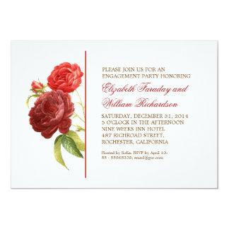 elegant victorian roses engagement party invites