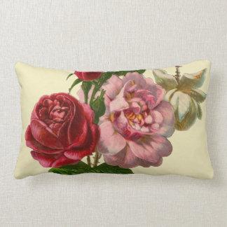 Elegant Victorian Roses Lumbar Pillow