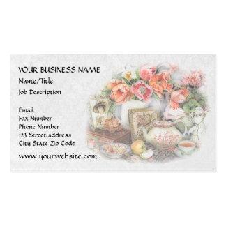 Elegant Victorian Vintage Antique Tea House Business Card