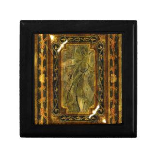 Elegant victorian vintage brown mahogany trinket boxes
