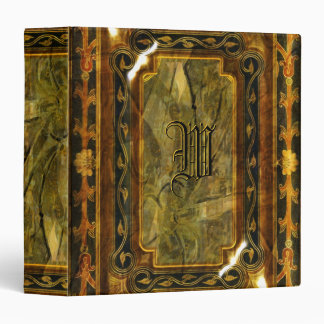 Elegant Victorian vintage brown pattern 3 Ring Binder
