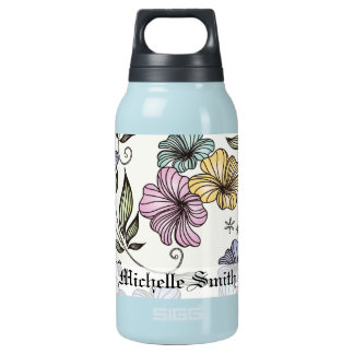 Elegant Victorian Vintage Flowers Insulated Water Bottle