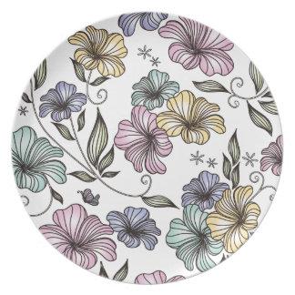 Elegant Victorian Vintage Flowers Party Plate