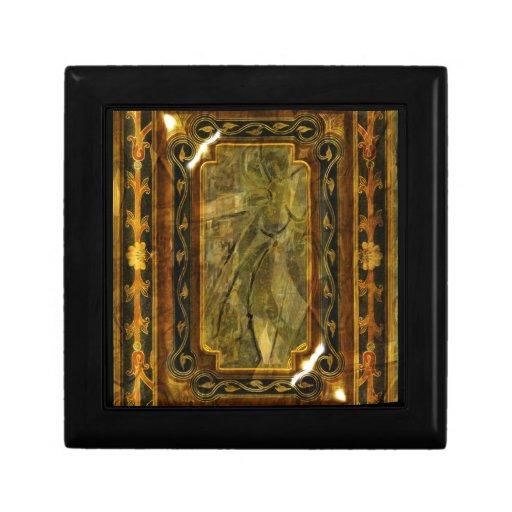 Elegant victorian vintage green jade gift box