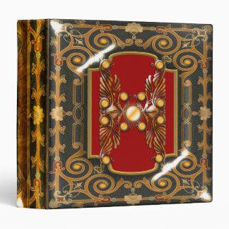 Elegant Victorian vintage ruby swirls Binder