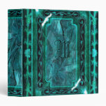 Elegant Victorian vintage teal aqua Vinyl Binders