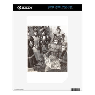 Elegant Victorian Women Friends Vintage Fashion NOOK Color Decal