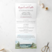 Elegant Villa Wedding Details Tri-Fold Invitation