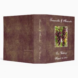 Elegant Vineyard Purple/Green Grapes Wedding Binder