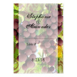 Elegant Vineyard Purple/Green Grapes Wedding Business Card Templates