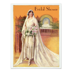 Elegant Vintage 1930s Bride Bridal Shower Invitation