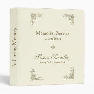 Elegant Vintage 1 Memorial Service Guest Book Binder