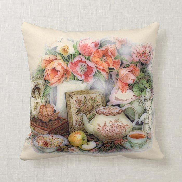 Vintage Victorian Pillows : Elegant Vintage Antique Victorian Tea Room Decor Throw Pillow Zazzle