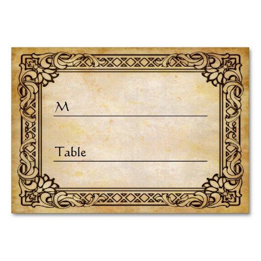Elegant Vintage Antique Wedding Table Place Card