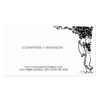 Elegant Vintage Art Beautiful Visiting Card Leaves Business Card Templates