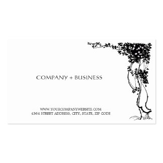 Elegant Vintage Art Beautiful Visiting Card Leaves Double-Sided Standard Business Cards (Pack Of 100)