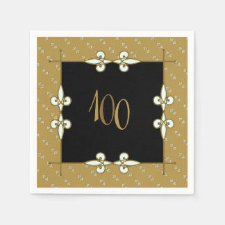 Elegant Vintage Art Nouveau Ornament 100+ Birthday Napkin