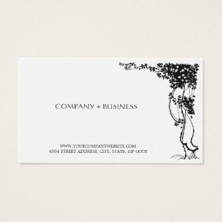 Elegant Vintage Beautiful Art Visiting Card Leaves
