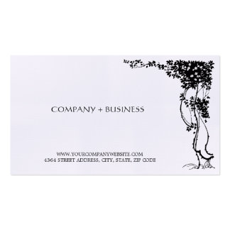 Elegant Vintage Beautiful Art Visiting Card Leaves Double-Sided Standard Business Cards (Pack Of 100)