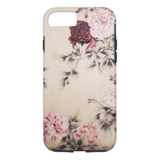 elegant vintage beige floral iPhone 7 case