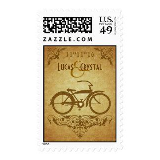 Elegant Vintage Bicycle Gold Postage