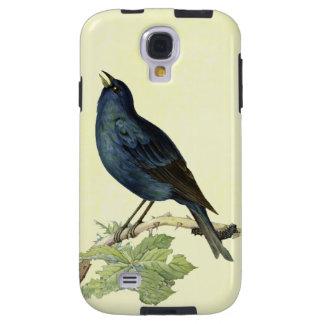 Elegant Vintage Black Bird Yellow Galaxy S4 Case