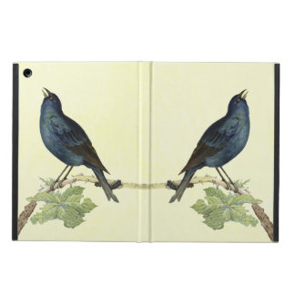 Elegant Vintage Black Bird Yellow iPad Air Case
