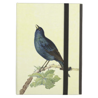 Elegant Vintage Black Bird Yellow iPad Covers