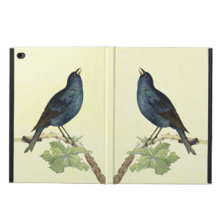 Elegant Vintage Black Bird Yellow Powis iPad Air 2 Case