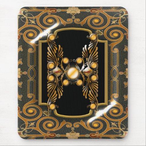 Elegant vintage black brown customizable mousepads
