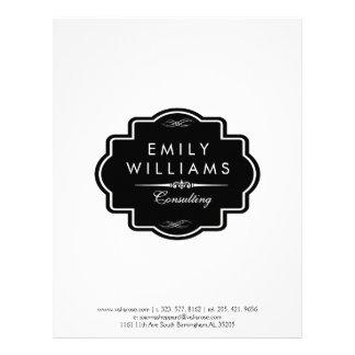 Elegant Vintage Black Frame Letterhead