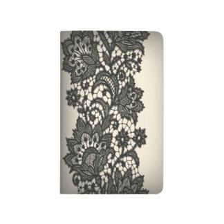 elegant vintage black lace journal