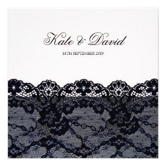 Elegant Vintage Black Lace Wedding Invitation Personalized Invitations