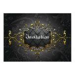 Elegant vintage black n gold invitation