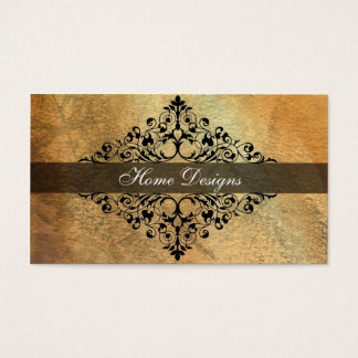 Elegant Vintage Black Scroll Business Card