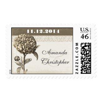 elegant vintage blossom postage stamp