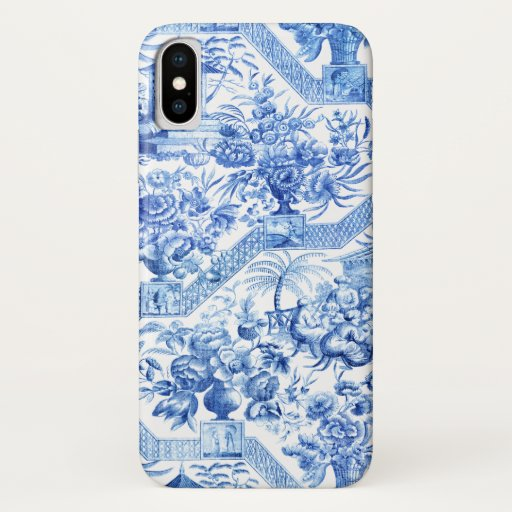 Elegant Vintage Blue and White Chinoiserie iPhone X Case